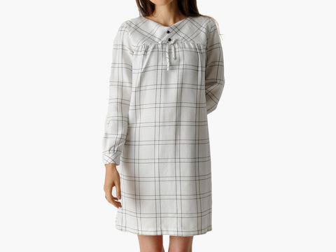 Vintage Black & White Windowpane Dress