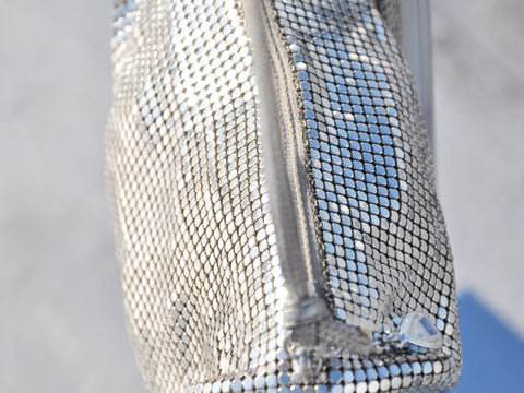 Vintage whiting and davis silver clutch