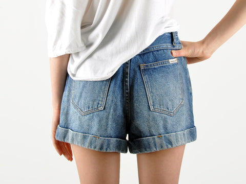 Vintage Denim Cuffed Shorts