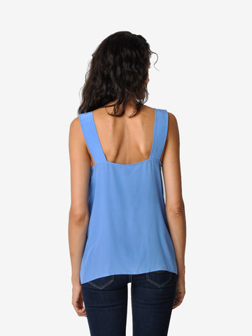 Walter Blue Silk Tank Top