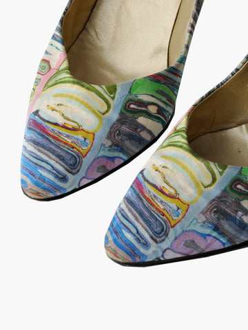 Vintage Rainbow Marbled High Heels