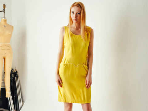 Vintage Yellow Day Dress