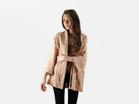 Zara Dusty Rose Draped Jacket