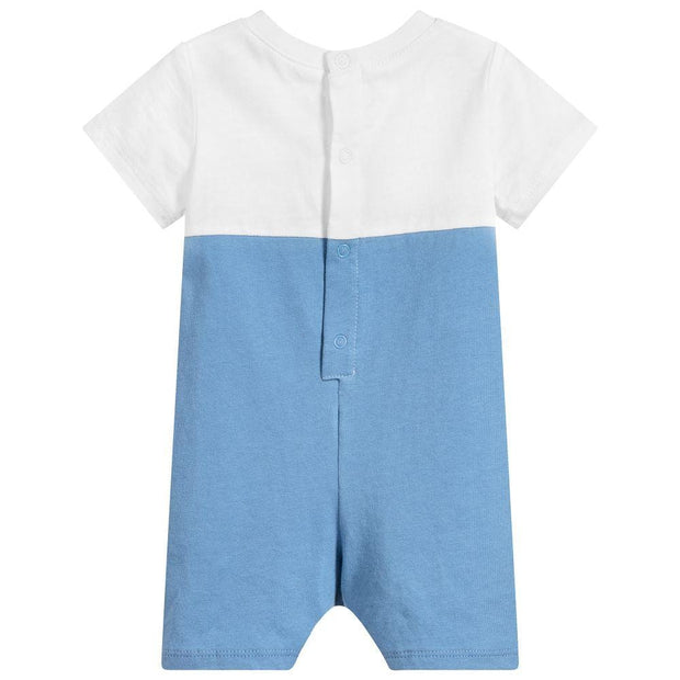 (HUGO BOSS) Baby Boys Blue Cotton Shortie - My Billionaire Baby