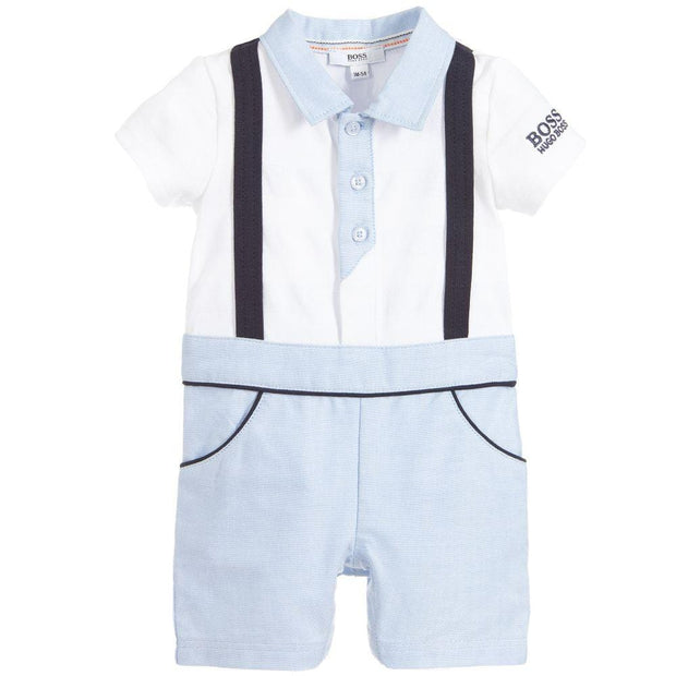 (HUGO BOSS) Baby Boys Blue & White Shortie - My Billionaire Baby