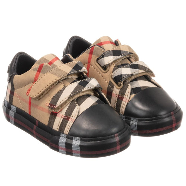 Burberry - Beige Check First-Walkers