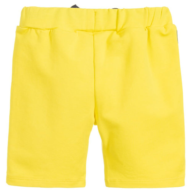 (Emporio) Armani Boys Yellow Cotton Jersey Shorts - My Billionaire Baby