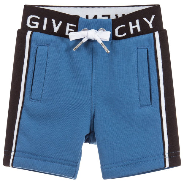 (Givenchy) Kids Baby Boys Blue Cotton Shorts - My Billionaire Baby