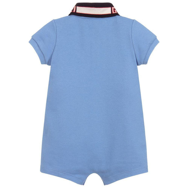 (Gucci) Baby Cotton Piqué Logo Shortie - My Billionaire Baby