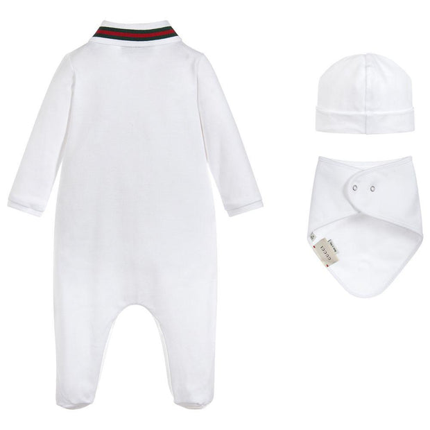 (Gucci) Boys 3 Piece Babysuit Gift Set - My Billionaire Baby