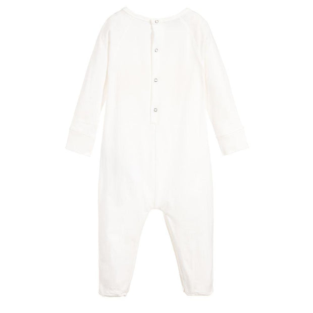 (Gucci) Girls White Cotton Babygrow - My Billionaire Baby