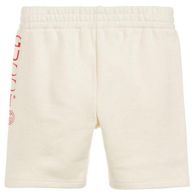 (Gucci) Ivory Cotton Shorts - My Billionaire Baby