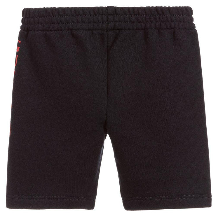 (Gucci) Navy Blue Cotton Jersey Shorts - My Billionaire Baby