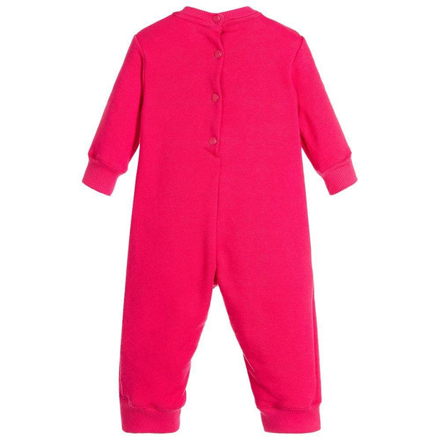 (Kenzo) Kids Girls Bright Pink Babygrow - My Billionaire Baby