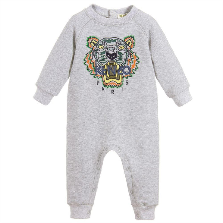 (Kenzo) Kids Grey Cotton Tiger Onesie - My Billionaire Baby