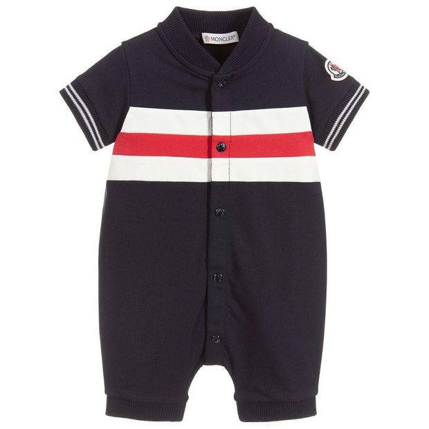 (Moncler) Baby Boys Blue Cotton Shortie - My Billionaire Baby