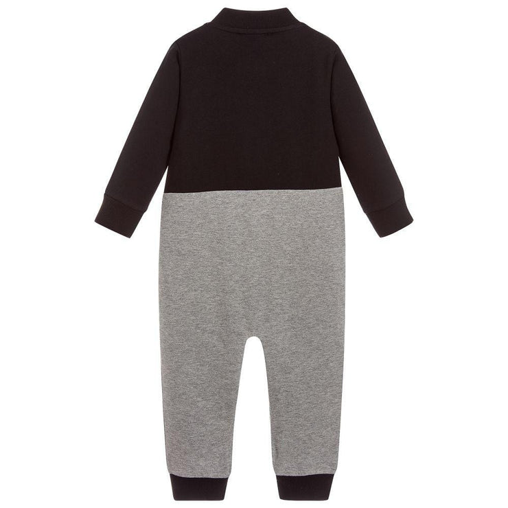 (Moncler) Black & Grey Cotton Babygrow - My Billionaire Baby