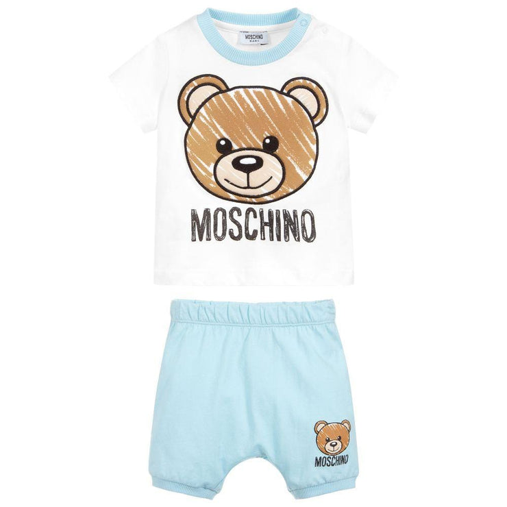 (Moschino) Baby Baby Cotton Shorts Set - My Billionaire Baby