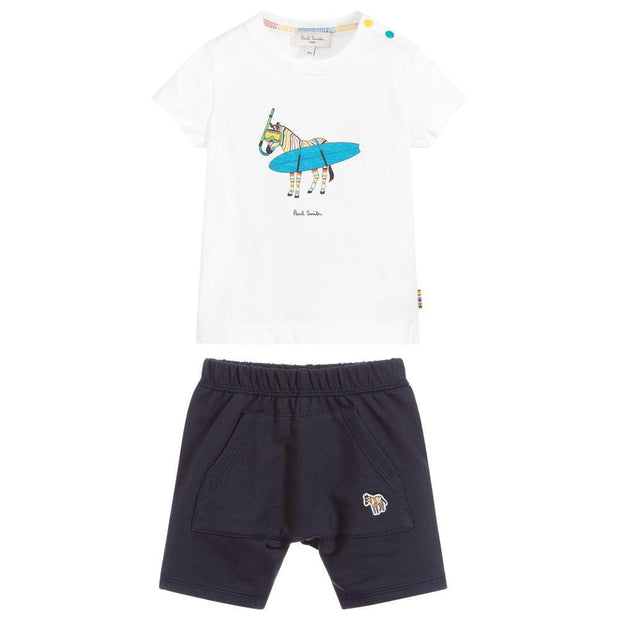 (Paul Smith) Junior Baby Boys Cotton Shorts Set - My Billionaire Baby