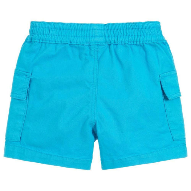 (Paul Smith) Junior Boys Blue Cotton TOBY Shorts - My Billionaire Baby