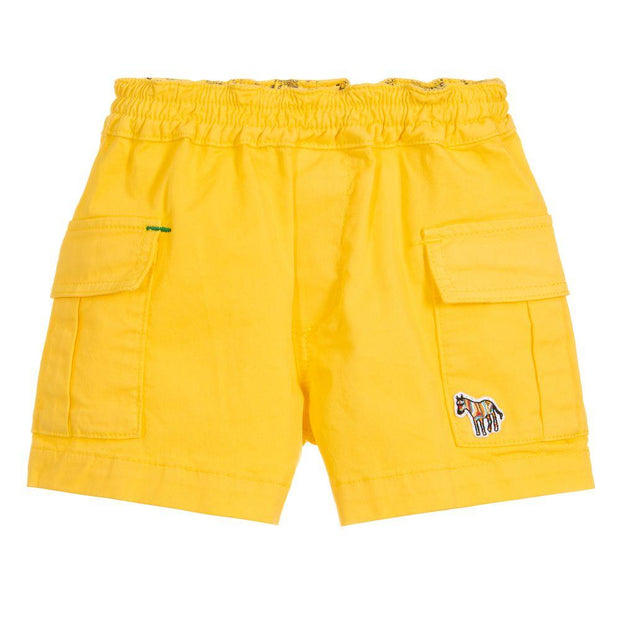 (Paul Smith) Junior Boys Yellow Cotton TOBY Shorts - My Billionaire Baby