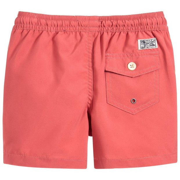 (Polo Ralph Lauren) Boys Red Swim Shorts - My Billionaire Baby