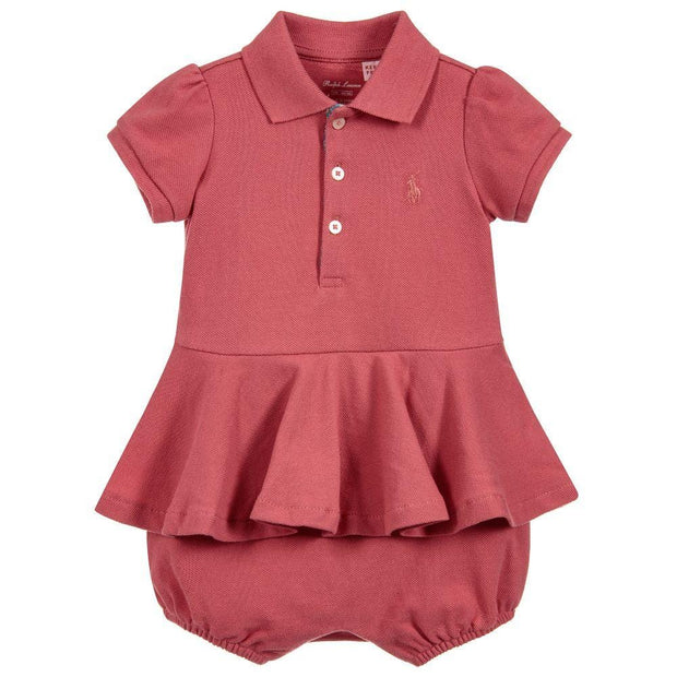 (Ralph Lauren) Girls Cotton Shortie Dress - My Billionaire Baby