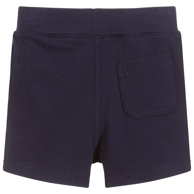 (Ralph Lauren) Navy Blue Cotton Piqué Shorts - My Billionaire Baby