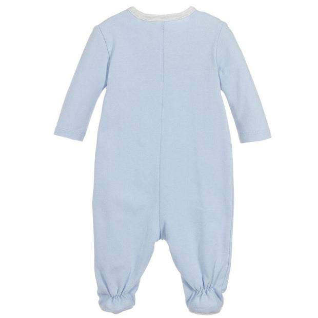 (Timberland) Boys Blue Cotton Babygrow - My Billionaire Baby