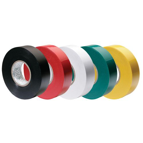 "Ancor Premium Assorted Electrical Tape - 1/2"" x 20' - Black / Red / White / Green / Yellow"