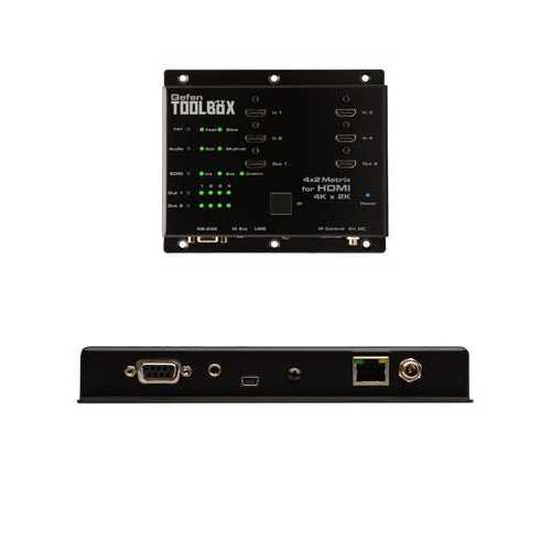 4x2 Matrix For HDMI Black