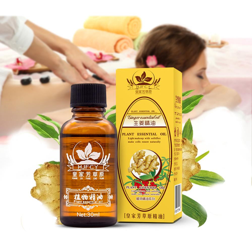 Lymphatic Drainage Ginger Oil and Body Massage Essential Oils