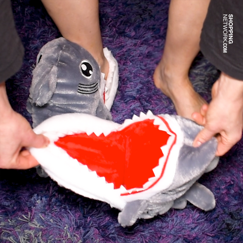 Comfy Chomp Shark Teeth Slippers