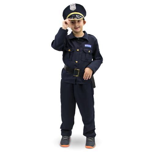 Plucky Police Officer Children's Costume, 3-4