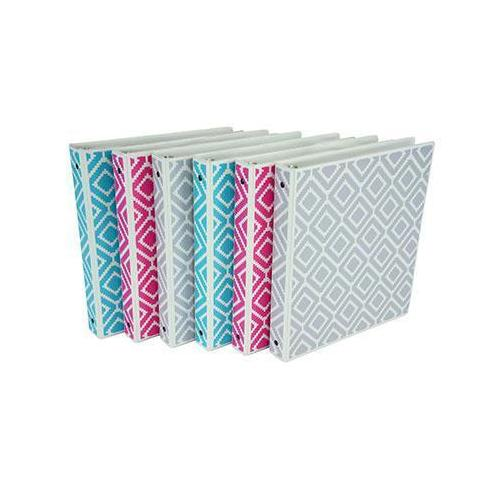"Fashion Binder Diamond 1"" 6pk"