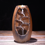 Waterfall Incense Burner and Ceramic Aromatherapy Furnace
