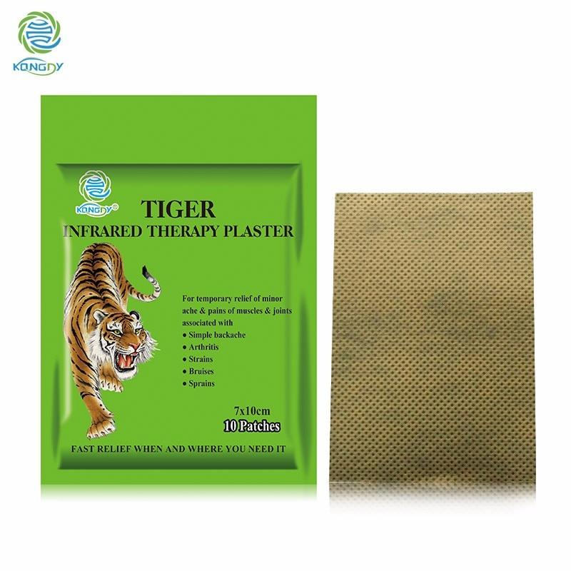 KONGDY Health Care Tiger Capsicum Plaster 10 Pieces/Bag 7*10 CM Medical Pain Relief Patch for Back/Neck/Arthritic Pain and Ache