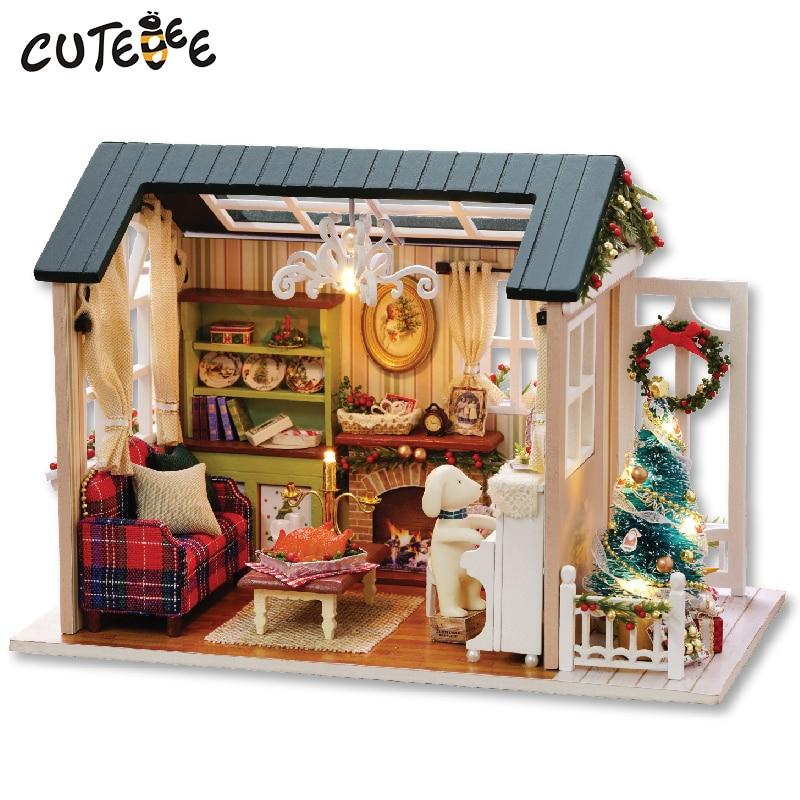 DIY Wooden Doll House With Furnitures