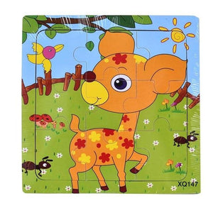 Wooden Animal Jigsaw Puzzle For Infants