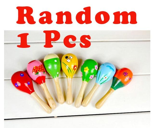 1 PC Mini Wooden Ball Percussion Musical Instruments Sand Hammer Children Toys