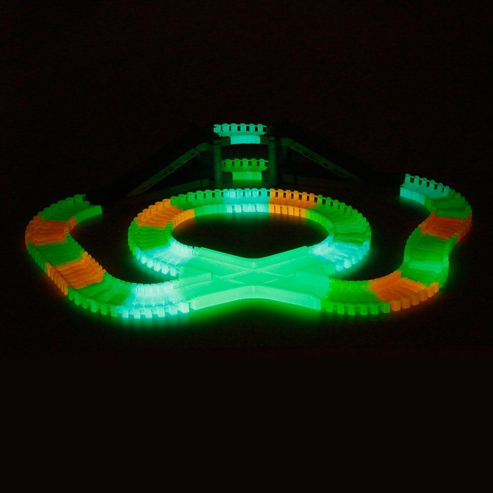 Flexible Assembly, Glow in the Dark Car Track with Bridge (166 pcs.)
