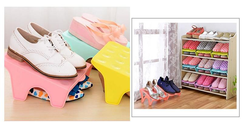 Slim-Design Double Shoe Rack & Shoe Organizer