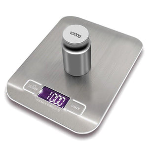LCD Electronic Kitchen Scales balance Cooking Measure Tools Digital Stainless Steel 10000g/1g digital Weighing Food scale