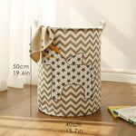 Large Cotton Laundry Basket & Toy Storage with Positive Prints