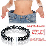 Magnetic Hematite Round Beads Stretch Bracelet For Men and Women 55MM Anti-Fatigue Health Care Energy Bracelet Jewelry