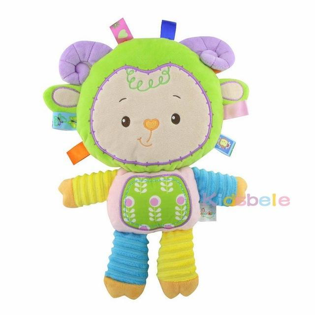 Baby Appease Toys Ring Bell Squeaky Sound Educational Toys Soft Plush Rattles Mobiles Toys For Girls Christmas Gift