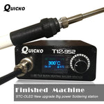 Quick Heating T12 soldering station electronic welding iron 2018 New version STC T12 OLED Digital Soldering Iron T12-952 QUICKO