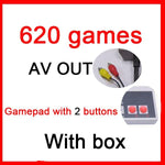 Mini TV Handheld Family Recreation Video Game Console AV Port Retro Built-in 500/620 Classic Games Dual Gamepad Gaming Player