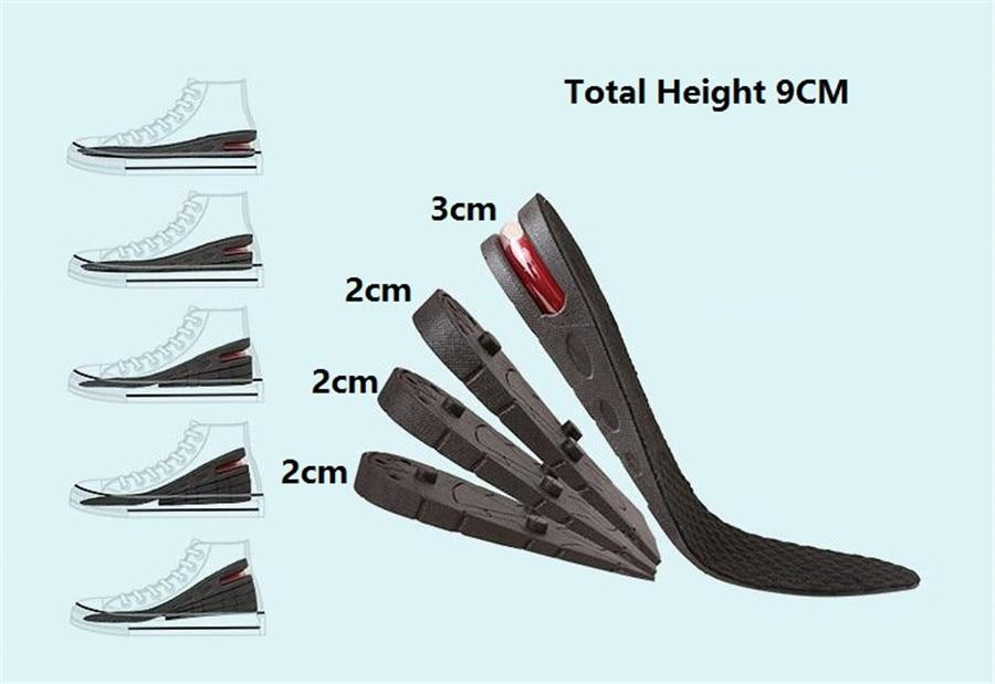 Adjustable Height Increasing Shoe Insoles - Heel Lifter Set