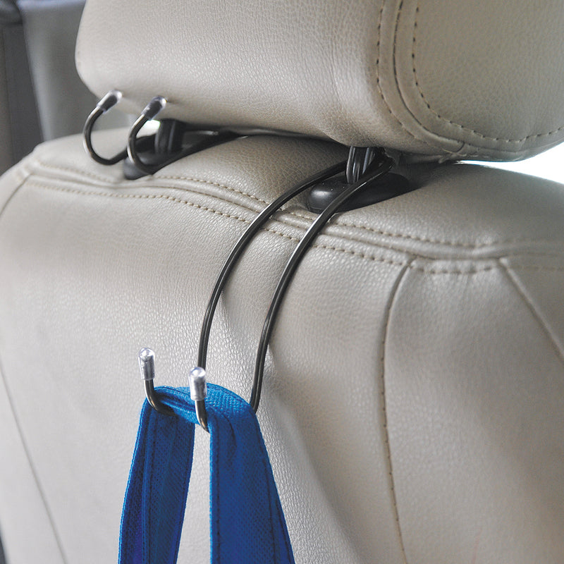 Metal Car Back Seat Bag Hooks (Pair of 2)